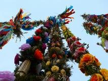 Tradition colorée de Pâques de paume Images libres de droits