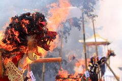 Tradition cremation ceremony in Bali stock image