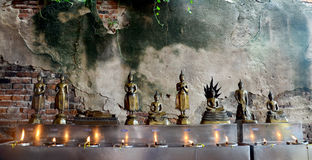 Tradition and culture of thailand, Thai people offering oil lamp Royalty Free Stock Photography