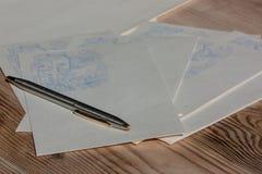 Tradition de disparition des lettres d'écriture Photographie stock