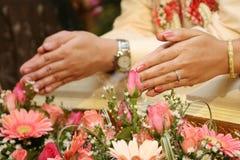 Tradition de mariage de la Thaïlande Photographie stock libre de droits