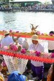 Tradition des Verdienstes zum Wasser Stockbild