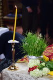 Tradition. Easter romanian tradition at orthodox church stock photography