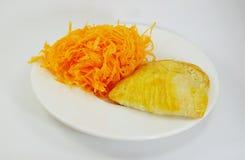 Tradition egg yolk golden thread and egg yolk golden thread pie Royalty Free Stock Photos