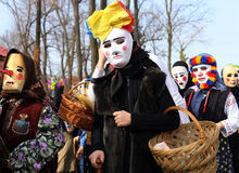 TRADITION EN ROUMANIE - `` FESTIVAL DE COUCOUS `` Images stock