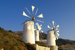 Tradition Greek windmills Stock Photography