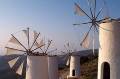 Tradition Greek windmills royalty free stock photos