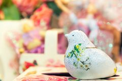 Tradition handcraft ceramic bird ornament Stock Photo