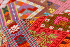 Tradition,handwork,fabric,fabric of hill tribe Royalty Free Stock Image