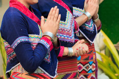 Tradition,handwork,fabric,fabric of hill tribe Stock Photo