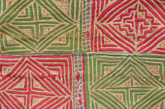 Tradition handwork fabric of hill tribe background, Thailand royalty free stock image