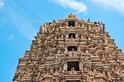 Tradition and a Hindu temple in Sri Lanka royalty free stock images