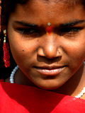 Tradition India. An Indian girl wearing traditional ornaments Stock Image