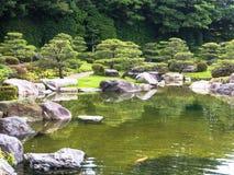 Tradition Japan garden,Zen garden. Garden decorate Japan style stock photo