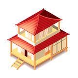 Tradition japan house  on white vector Royalty Free Stock Photography