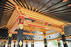 The tradition Javanese ceiling. Yogyakarta, Indonesia. Royalty Free Stock Photo