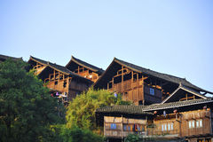 Tradition Miao type wooden house Royalty Free Stock Photo
