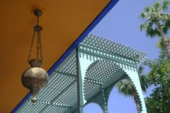 Tradition moroccan house&lamp  Stock Photography
