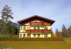 Tradition mountain  wooden chalet in Alps(Austria) Stock Photography
