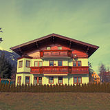 Tradition mountain  wooden chalet in Alps(Austria) Stock Photo