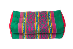 Tradition native Thai style pillow, isolated on white background Stock Photography