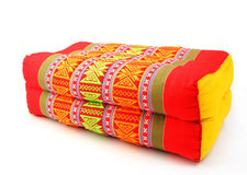 Tradition native Thai style rectangle pillow isolated Royalty Free Stock Photo