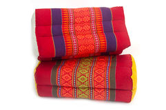 Tradition native Thai style square pillow Royalty Free Stock Images