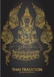 Tradition thai Buddha Jewelry Set.  Stock Photo