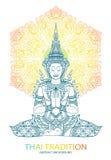 Tradition thai Buddha Jewelry Set. Vector Royalty Free Stock Image