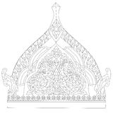 Tradition Thai Painting Style Royalty Free Stock Photo