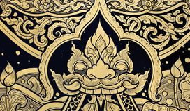 Tradition Thai style painting art Royalty Free Stock Photography