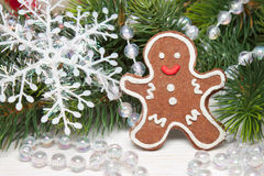 Traditiona Christmasl cookie man Royalty Free Stock Photos