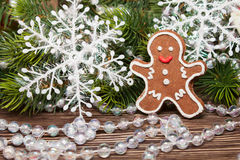 Traditiona Christmasl cookie man Royalty Free Stock Images