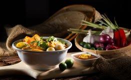 traditiona curry'ego kluski korzenna polewka Zdjęcie Stock