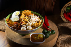 Traditiona curry spicy noodle soup Royalty Free Stock Images