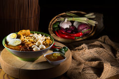traditiona curry spicy noodle soup Stock Photo