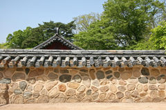 Traditiona korean wall Stock Images