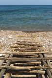 Traditiona pier in Mallorca Stock Photography