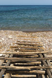 Traditiona pier in Mallorca Royalty Free Stock Photography