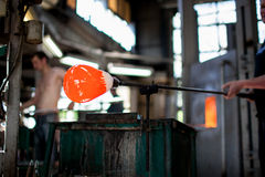 Traditiona-Technik des Glasblasens Lizenzfreie Stockfotografie