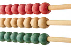Traditional abacus with colorful beads Royalty Free Stock Photo