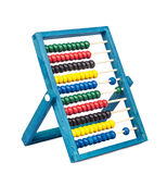 Traditional abacus with colorful wooden beads Royalty Free Stock Photos