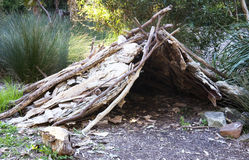 Traditional aboriginal hut Stock Images