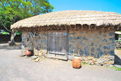 Traditional, Aboriginal village hut Stock Photo