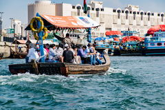 Traditional Abra ferries at the creek Royalty Free Stock Image