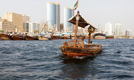 Traditional Abra ferries Stock Photography