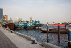 Traditional Abra ferries Royalty Free Stock Photos