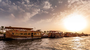 Traditional Abra ferries Stock Image