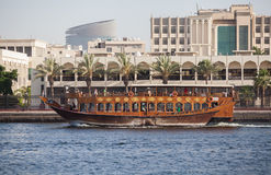 Traditional Abra ferries Royalty Free Stock Photography