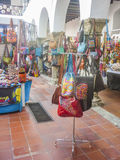 Traditional Accessories and Crafts Inside Store in Cartagena Royalty Free Stock Images